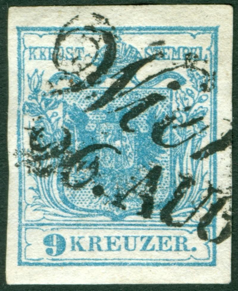 Die erste Österreichische Ausgabe 1850 - Seite 6 9_kr_t10