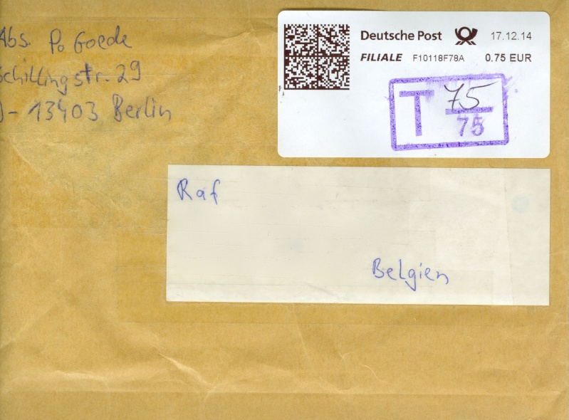 Deutsche Post: Stempel T 75/75 ? D_taks10