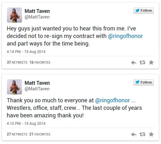 [Contrat] Un ex-ROH TV Champion décide de quitter la compagnie Taven10