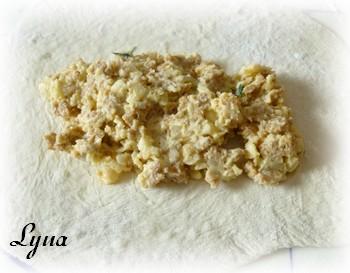 Calzones aux trois fromages et saucisse italienne Calzon13