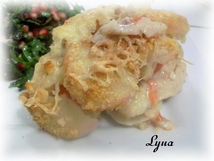 Casserole de pommes de terre et poisson Casser13