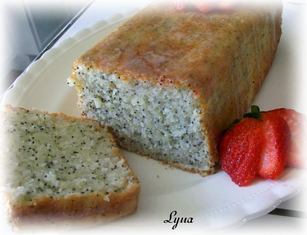 Pain-gâteau citron et graines de pavot Gateau30