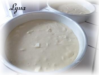 Gâteau aux pommes, mousse au caramel Gyteau14