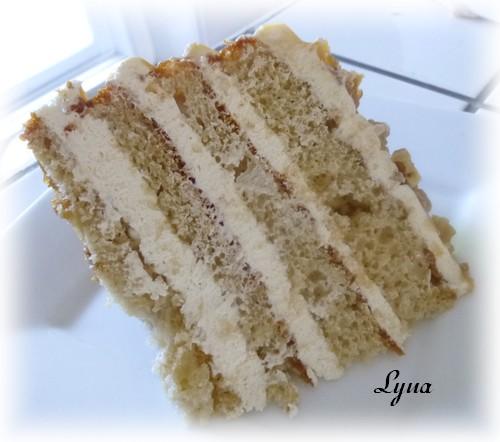 Gâteau aux pommes, mousse au caramel Gyteau18