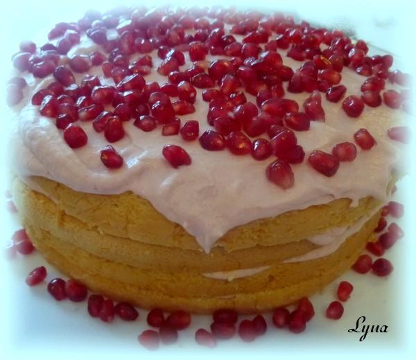 Gâteau à la mousse de pomme grenade Gyteau22
