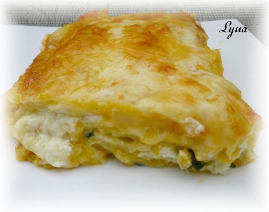 Lasagne à la courge butternut grillée et aux épinards Lasagn17