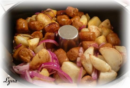 Merguez et pommes de terre (actifry) Mergue10
