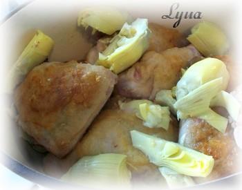 Cuisses de poulet au lait de coco et artichauts Poulet18