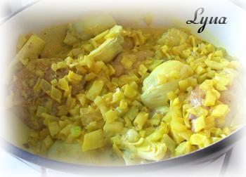 Cuisses de poulet au lait de coco et artichauts Poulet19