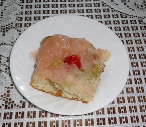 Renversé à la rhubarbe et aux pommes Renver10