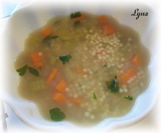 Soupe aux légumes et acini di pepe Soupe_10