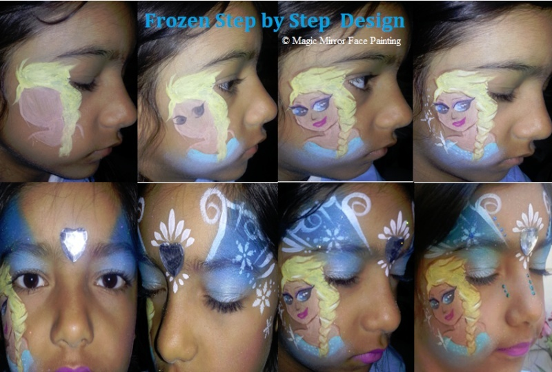 Frozen Face Painting Tutorial Step_b12