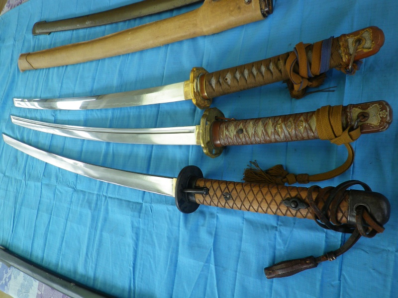 sabre, wakisashi, gunto, mes armes blanches du Japon moderne,  - Page 2 Imgp8429