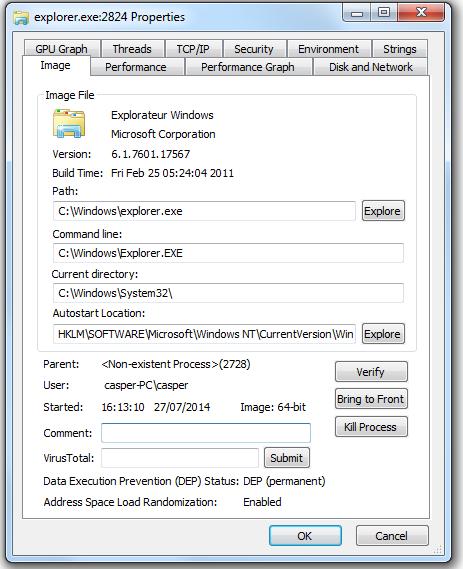 Process Explorer : un gestionnaire de tâches amélioré Propri10
