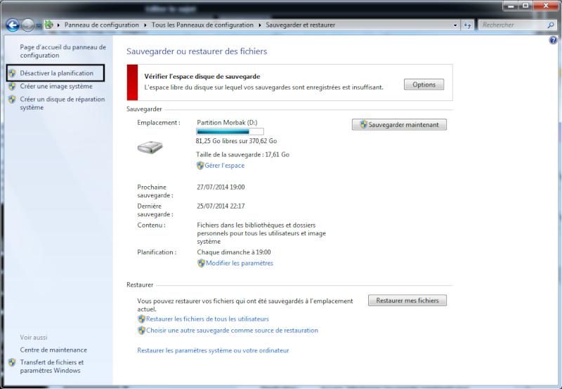 Libérer de l'espace sur un disque dur sous Windows Sauveg10
