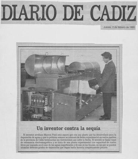 """Marcos Pinel Jimenez  """"El Nikola Tesla Español"""" Diario10"""