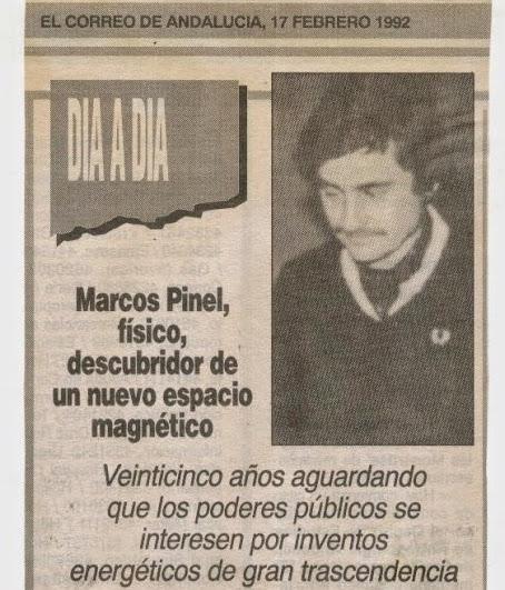 """Marcos Pinel Jimenez  """"El Nikola Tesla Español"""" Prensa10"""