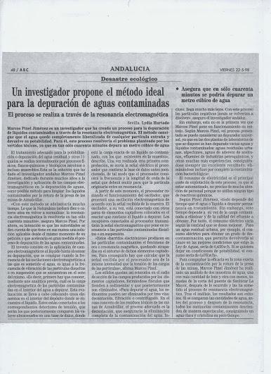 """Marcos Pinel Jimenez  """"El Nikola Tesla Español"""" Prensa11"""