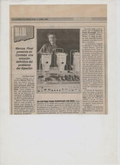 """Marcos Pinel Jimenez  """"El Nikola Tesla Español"""" Prensa13"""