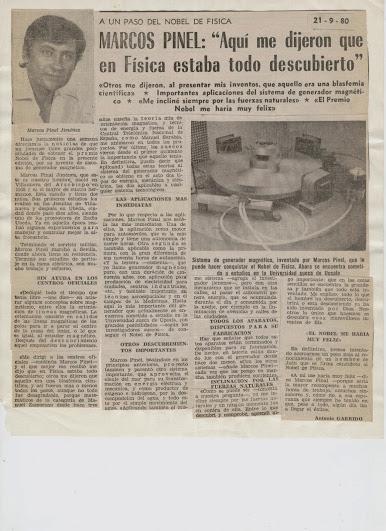 """Marcos Pinel Jimenez  """"El Nikola Tesla Español"""" Prensa14"""