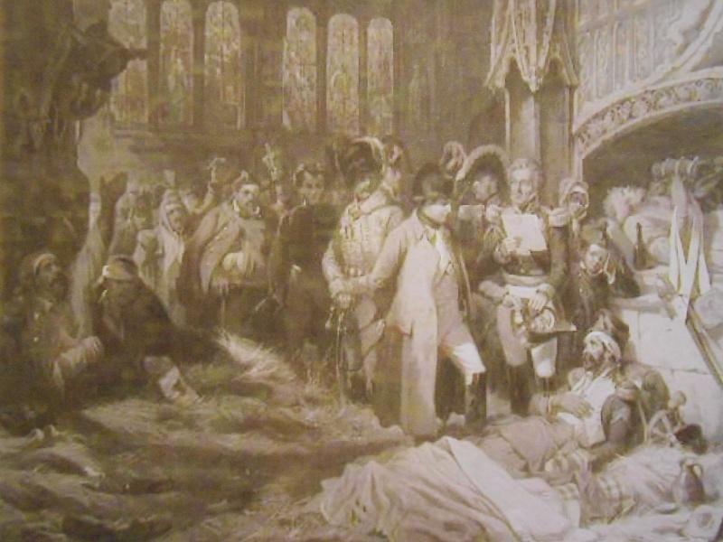 Napoléon visitant l' ambulance 00221