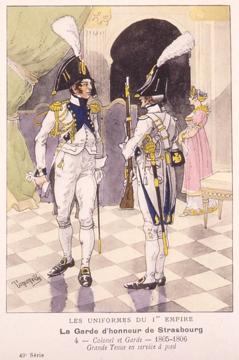 colonel gardes d'honneur de Strasbourg Nim24310