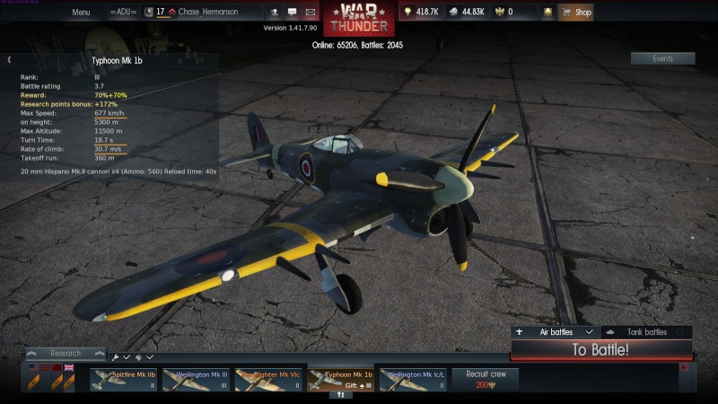 My war thunder hanger(Great Britain) 2014-016