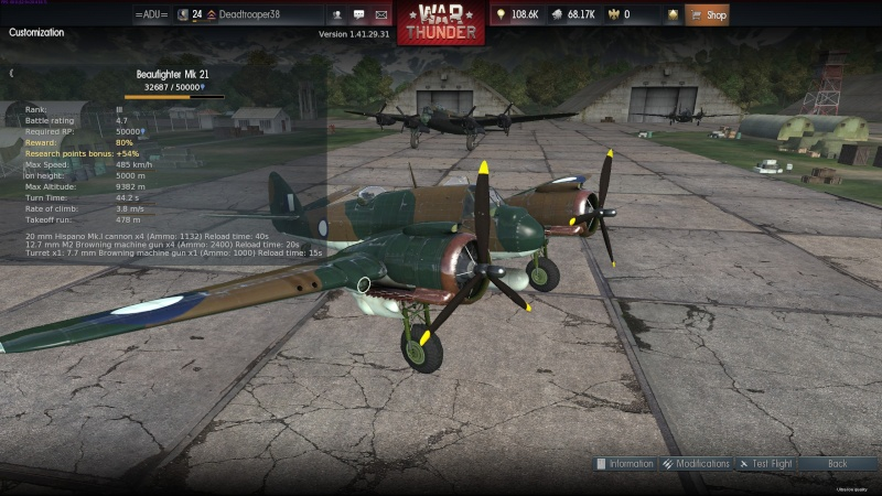 My war thunder hanger(Great Britain) 2014-049