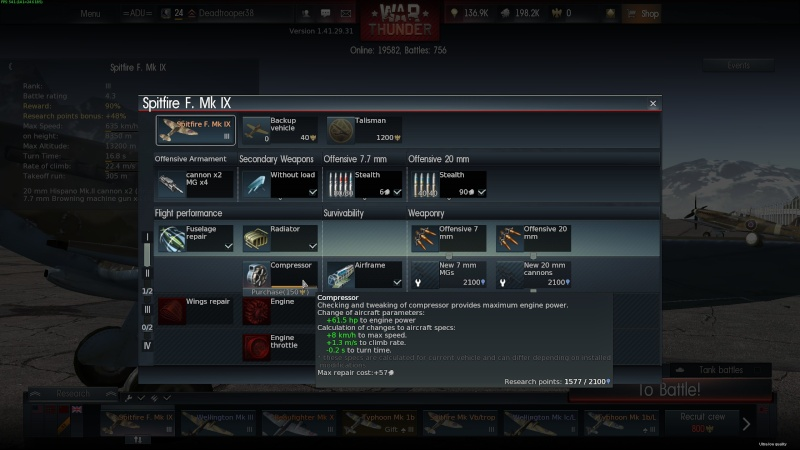 My war thunder hanger(Great Britain) 2014-050