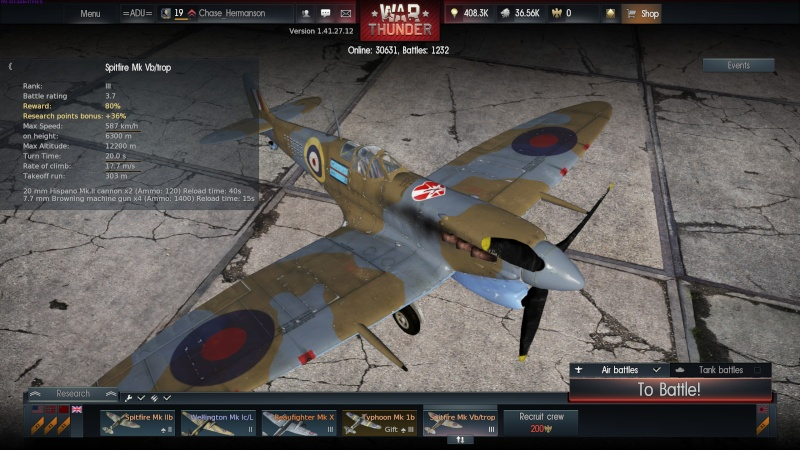 My war thunder hanger(Great Britain) Spit_m10