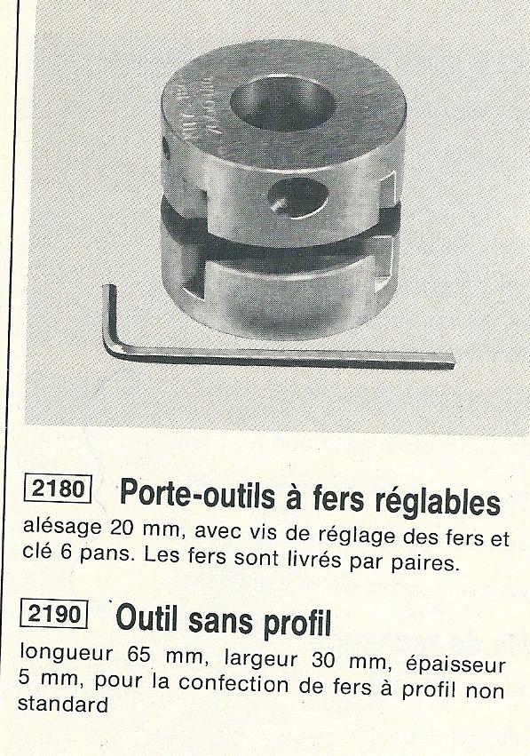 Fers pour Porte outil réglable toupie Kity 627 Porte_10