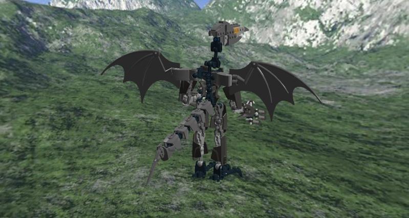 [MOC] Diorama Metroïd en System sous LDD Ridley13