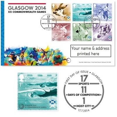 United Kingdom - 6 Stamps - Commonwealth Games Glasgow 2014 Af383l10
