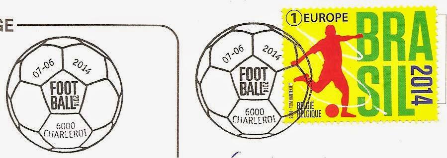 Timbre (Belgique) - Coupe du Monde de Football FIFA Brazil 2014 Belgiq12