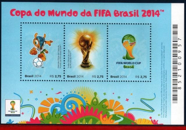 Timbres (Brésil) - Coupe du Monde de Football FIFA Brazil 2014 Bresil11