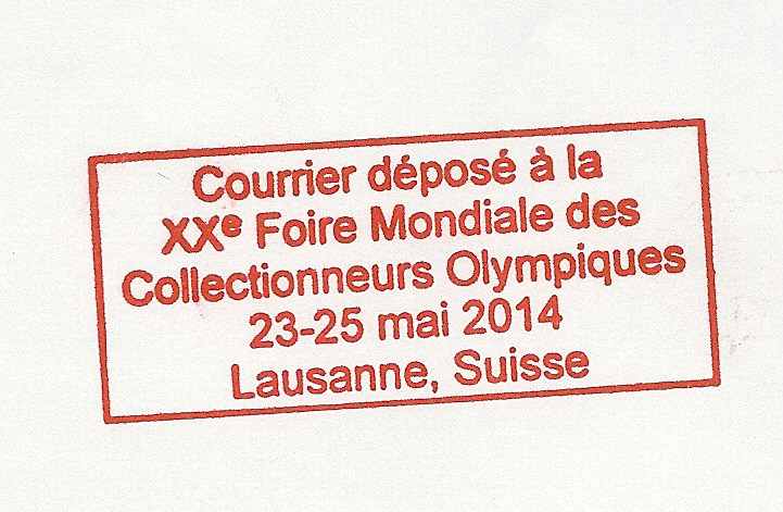 20th World Olympic Collectors Fair - Lausanne 2014 Cachet12