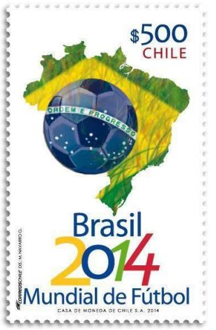 Timbre (Chilie) - Coupe du Monde de Football FIFA Brazil 2014 Chilie10