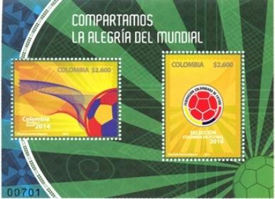 Timbres (Colombie) - Coupe du Monde de Football FIFA Brazil 2014 Colomb10