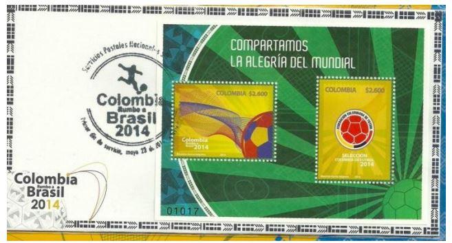 Timbres (Colombie) - Coupe du Monde de Football FIFA Brazil 2014 Colomb11