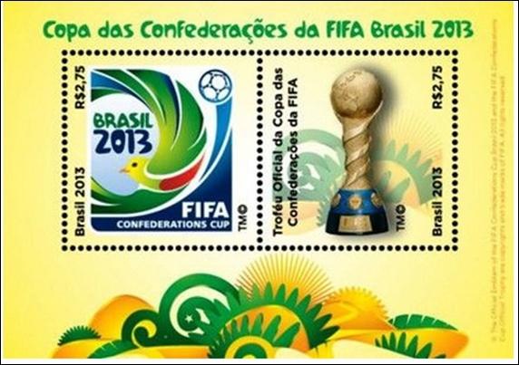 Timbres (Brésil) - Coupe des Confédérations FIFA Brazil 2013 Confcu10