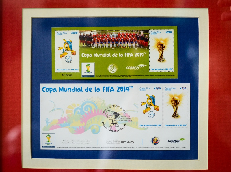 Costa Rica - Stamps World Cup Brasil 2014 (Football) Costar10