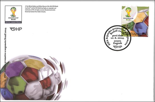 Timbre (Croatie) - Coupe du Monde de Football FIFA Brazil 2014 Croati10