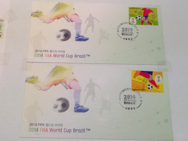 South Korea - Stamps World Cup Brasil 2014 (Football) Korea012