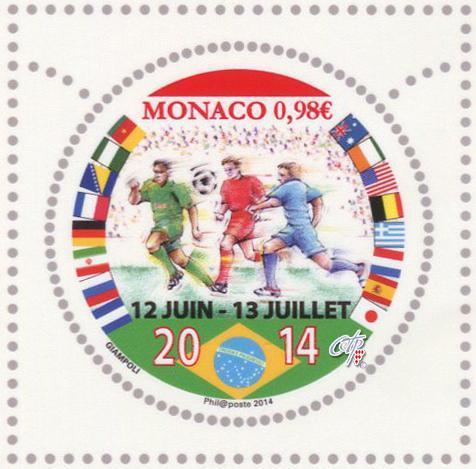 Timbre (Monaco) - Coupe du Monde de Football FIFA Brazil 2014 Monaco10