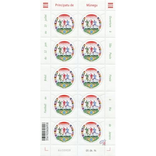 Monaco - Stamp World Cup Brasil 2014 (Football) Monaco11