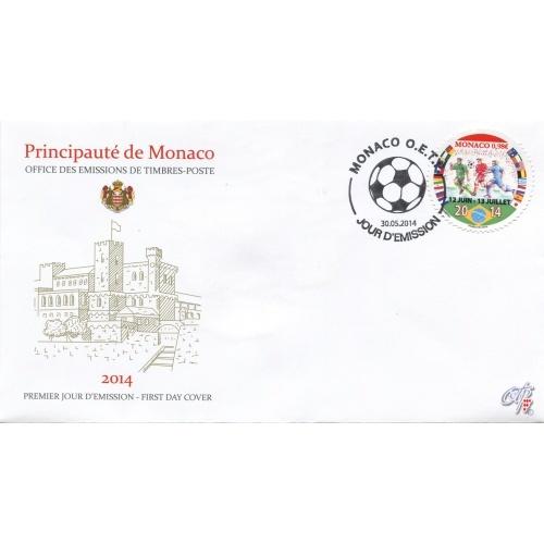 Timbre (Monaco) - Coupe du Monde de Football FIFA Brazil 2014 Monaco12