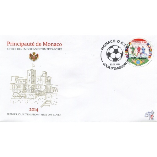 Monaco - Stamp World Cup Brasil 2014 (Football) Monaco12