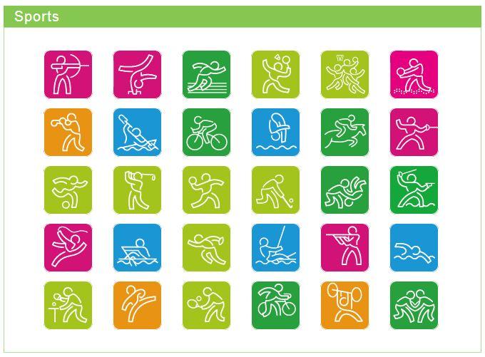 Nanjing 2014, Jeux Olympiques de la Jeunesse - Pictogrammes Nanjin10