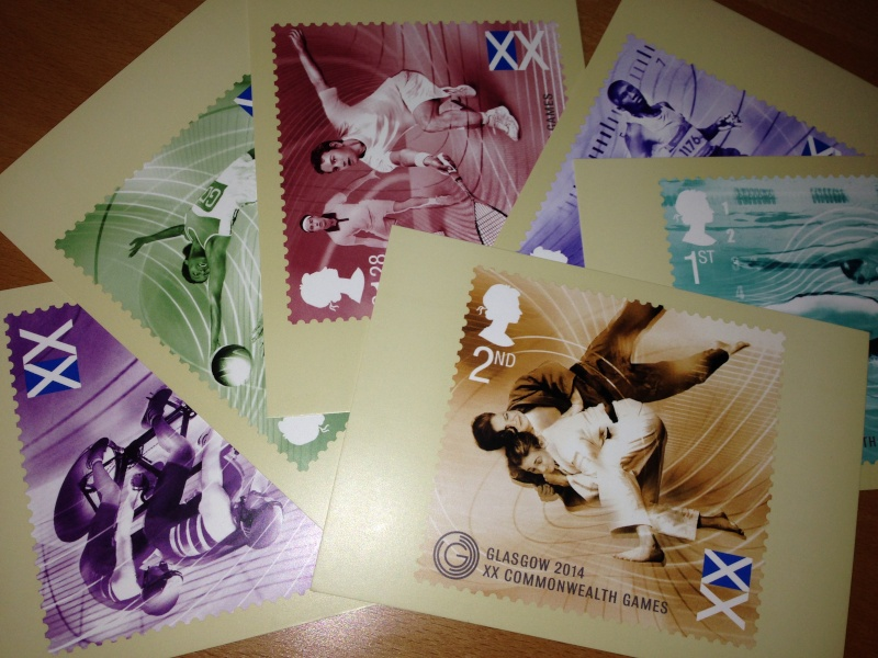 Glasgow 2014, Commonwealt Games - Official Stamps Postcards Photo10