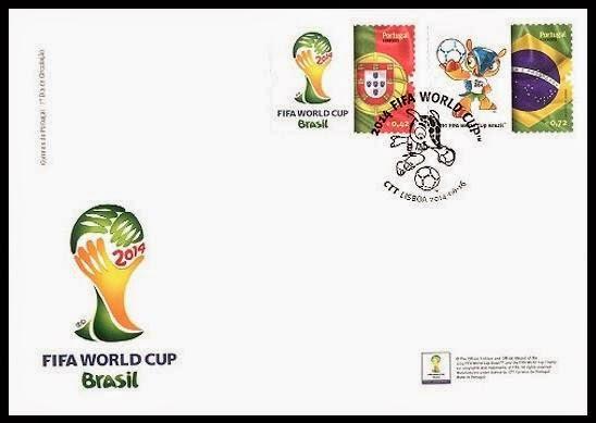 Timbres (Portugal) - Coupe du Monde de Football 2014 Porto011